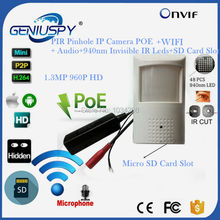 960P 1.3MP POE Wifi Wireless Night Vision PIR Mini IP Camera Security Pinhole Network IP Indoor Surveillance CCTV Mini IP Kamera()