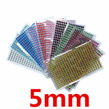 352Pcs /set 5mm Acrylic Crystal Tattoo Sticker Decal Rhinestone Wall Smooth surface decoration Stickers Nail diamond