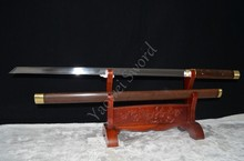 Straight Blade Ninja Samurai Sword 1060 Carbon Steel Full Tang Sword Handmade Japanese Sword Can Cut Bamboo Tree