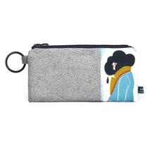 Autumn And Winter New Wool Bag Plus Cell Phone Bag Vintage Character Printing Long Wallet Joker Literature And Art Wallet