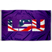 LSU Tigers Patriotic Football College Large Outdoor Flag 3ft x 5ft Football Hockey College USA Flag(China)