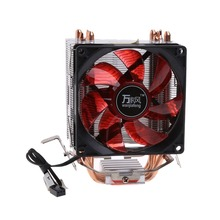 4 Heatpipe 130W Red LED CPU Cooler Fan 3Pin Aluminum Heatsink For Intel LGA775/1156/1155 AMD AM3/AM2+/AM2 92*92*25mm C26