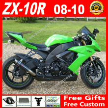 Free custom Fairings fit for Kawasaki Ninja ZX-10R 08 09 10 light green OEM ZX 2008 2009 2010 10R ZX10R fairing kits 7 gift FU02
