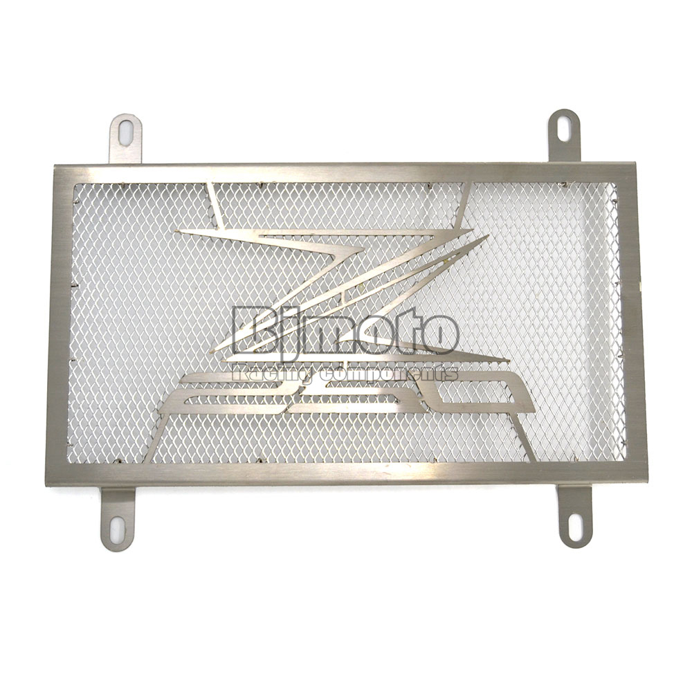 BJGLOBAL Motorcycle Parts For KAWASAKI Z250 2013-2014 Sliver Stainless Steel Engine Radiator Bezel Grill Guard Cover Protector<br><br>Aliexpress