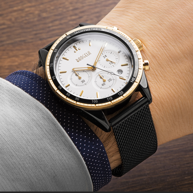 Baogela New Top Luxury Watch Brand Mens Watches Stainless Steel Band Quartz Wristwatch Fashion Casual Watches Relogio Masculino<br>
