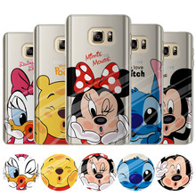 Mickey Minnie Case For Coque Samsung Galaxy Grand Prime S4 S5 S6 S7 Edge S8 Plus J2 J3 J5 J7 A3 A5 2016 2015 2017 Cover