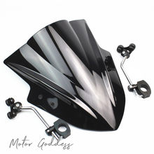 Motorcycle Windshield Windscreen With adjustable bracket Wind Screen For CFmoto 400nk 650NK 150nk 250nk(China)