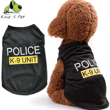 Fashion Pet Dog Police K-9 Unit Letter Printed Vest Summer Cool Puppy Cat Comfortable Costumes Clothing Top Quality