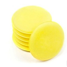 EE support 12Pcs 10CM Diameter 1.5CM Thickness Quality Scratch-resistant Wax applicator Car Wax /Detailing Yellow Sponge XY01(China)