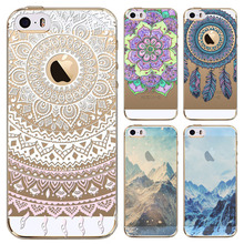 Phone Cases For iphone 5 5s SE fundas capa Mountain Ocean Natural Scenery Soft Sillicon Transparent TPU Cellphone Back Cover