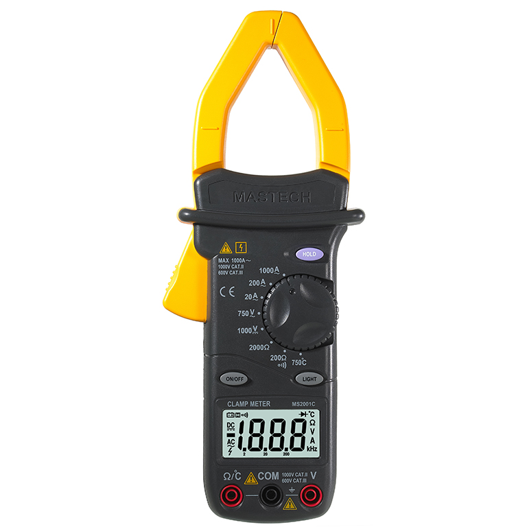 MS2001C Digital Clamp Meter Multimeter AC DC Voltage Current Diode Resistance Measurement<br>
