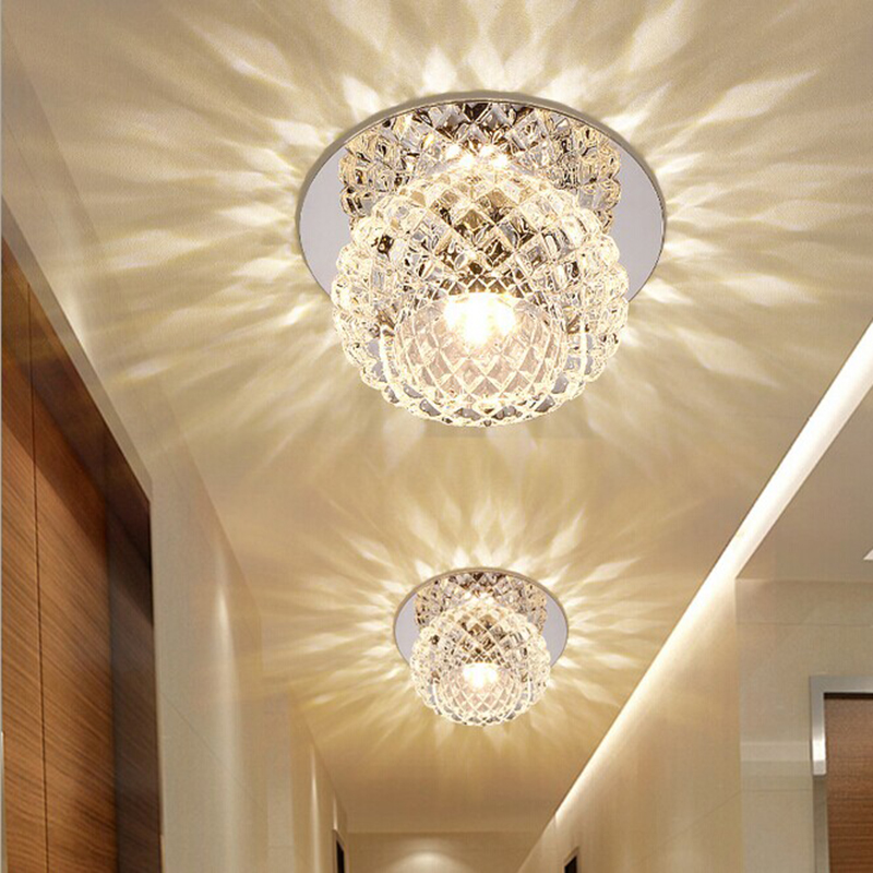 5W LED Crystal Light Chandelier Lighting for Aisle Porch Hallway Stairs with LED Light <br>