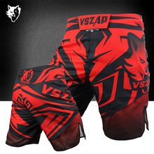 VSZAP Genuine MMA Training  Shorts Fight Boxing Fighting Fitness Integrated With Printing Breathable Quick Dry Light Sport