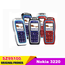 3220  nokia 3220 Mobile Phone unlocked GSM900/1800/1900 Quad Brand Cell Phone Free Shipping Refurbished cell phone