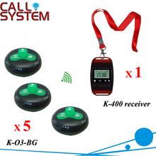 Cafe Electronic guest paging order system 1 watch for waitress 5 buzzer for server free shipping