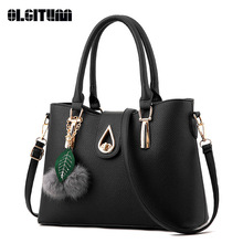 OLGITUM New Arrival 2017  Women Fashion Handbags Pu Leather Shoulder Lady Bags Messenger Big Leisure  Handbag  for Women F736