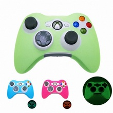 1PCS New LuminousSilicone Skin Case Soft Cover for XBOX 360 Game Controller Top Quality Glow in Dark Case Game Accessories