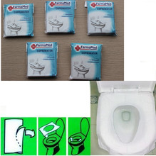 5Packs 50Pcs/lot Travel disposable toilet seat cover mat 100% waterproof toilet paper pad