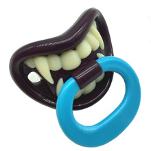 Baby Funny Silicone Pacifiers Friendly Vampire Pacifier Silicone Novelty Baby Food Nipple Teeth Kids Halloween Toys(China)