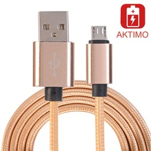 Top Quality 5V 2A Nylon Micro USB Cable Fast Charger Charging Sync Data For Fly Wize Gionee iq4514 evo IQ446 IQ456 Wire