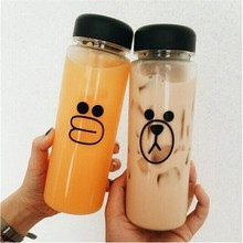 My Water Bottle 500ml Fashion Bear Sports Shaker Bootl For cicycle outdoor Juice Drinkware Readily Space Cup Bottles