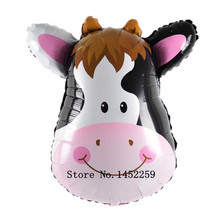 XXPWJ Free shipping 1pcs new 30inch aluminum cows animal balloon toys for children birthday party decoration balloon  T-071