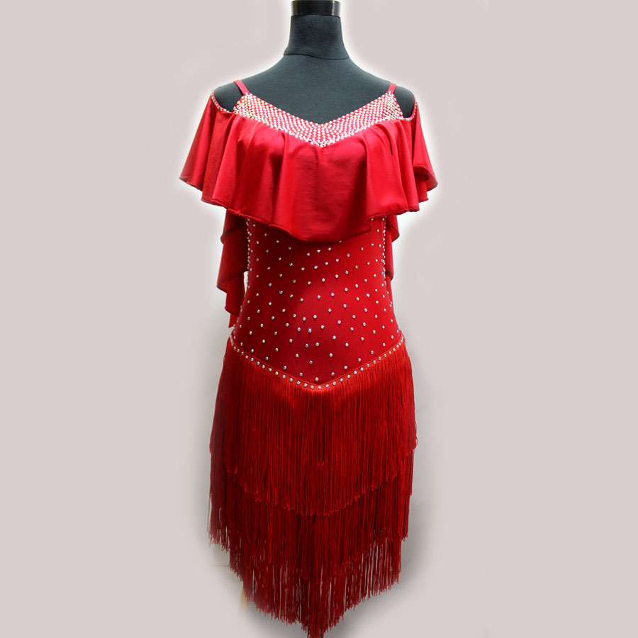 New style Latin dance costumes senior sexy spandex latin dance dresses for women latin dance competition dresses S-4XL