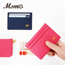 2016 Simple ID holder sets card package Wallet door clip card holder Credit Card of porte carte Bow multi-card-bit pack bag MSMO