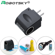 Portable Car Cigarette Lighter Socket Household Car-Charger MP3 Fan Charge Adapter 90-240V AC To 12V DC Power Converter Adaptor