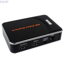 2017 new HD Video Game Capture Box HDMI YPbPr Recorder One-clink Record Into USB Flash For XBOX 360/One PS3 For WII U 1080P Rec(China)