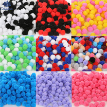 Fashion Design 300pcs/lot 10mm Multi option Pompoms Soft Pom Poms balls For DIY Wedding Decoration & Kids Toys Accessories(China)