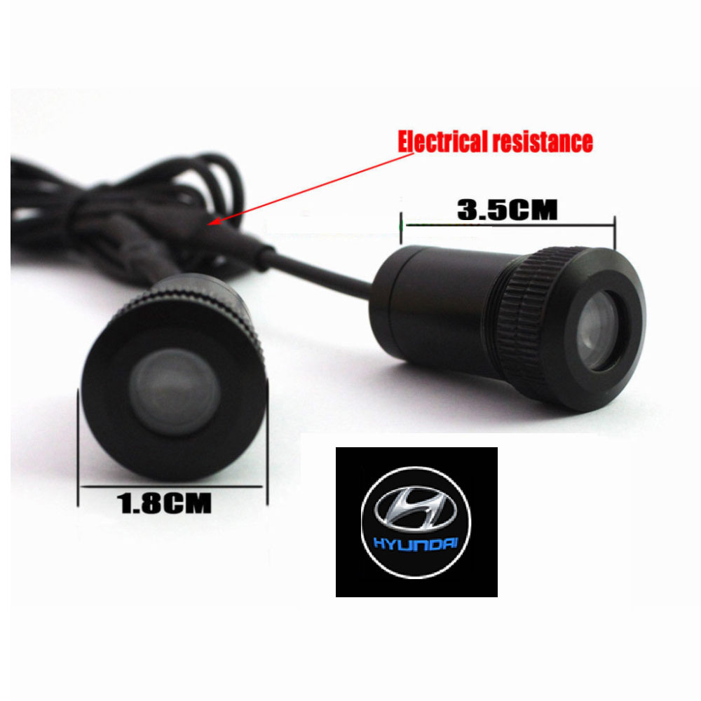 2PCs LED Car door welcome light courtesy led car laser projector Logo Ghost Shadow Light For Hyundai logo light<br><br>Aliexpress