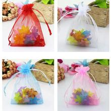 100 pcs/lot Wedding Decoration Organza Jewelry Candy Bags Pendent Mixed Color Mini Gift Pouch Bags Wedding Party Decorations
