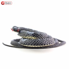 Wiben Halloween Realistic Soft Rubber Snake Fake Animal Model 139CM Garden Props Joke Prank Gift  Gags & Practical Jokes