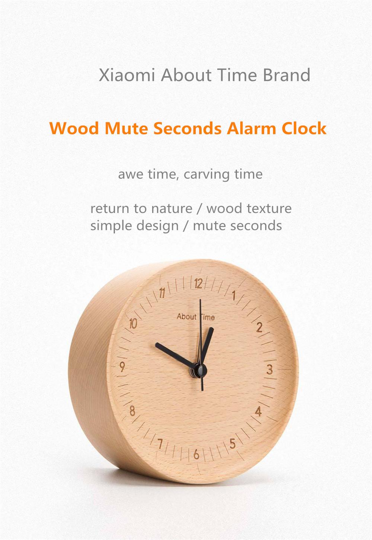 Xiaomi Mute Wooden Alarm Clock (1)