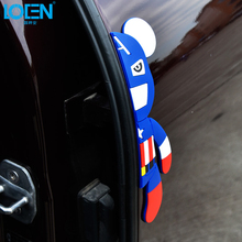 Car Styling Car Door Protector Trims 3D Stickers Door Side Edge Protection Guards Violent Bear Decal For Universal Automobiles