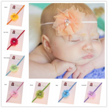 36pcs Newborn  Hairbow Headband Little  Flower headband Summer Hairbow Headband Fancy  Headband Silky Headwear