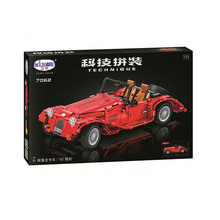 Winner 7062 Compatible Convertible Classic Car Building Block Figure Model Educational Toys For Children