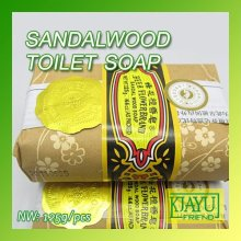 Wholesale and Retail Bee flower Sandalwood Toilet Soap 125g/pcs 8pcs/lot(China)