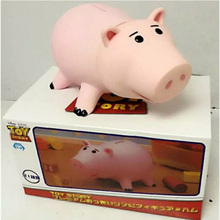 New 2 Types 8 Inch 19cm Cute High Quality Toy Stories Hamms Piggy Bank Pink Pig Coin Box PVC Model Toys For Children With Box(China)