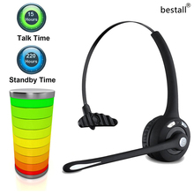 Bestall Professional Over-the-Head Driver Rechargeable Wireless Bluetooth Headset Mic Microphone Noise Cancelling Headphones(China)