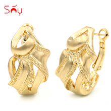 Sunny Jewelry Fashion Jewelry 2017 Clip Earrings For Women High Quality Zinc Alloy Fashion Trendy Animal Snake Twisted For Party(China)
