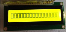 10PCS/Lot 161 16X1 1601 16*1 Character LCD Module Display LCM with Yellow Green Backlight HD44780/SPLC780D/KS0066 driver IC(China)
