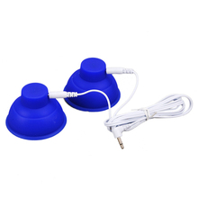 Electrical Shock Silicone Breast Pussy Vagina Sucker Breasts Enlargement Pump Massager Suction Cups Medical Sex Toys For Women