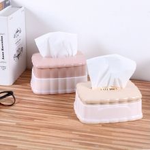 4 Colors Plastic Tissue Box Creative Lifted Tissue Paper Napkin Dispenser Table Tissue Storage Holder Case Desktop Accessories(China)