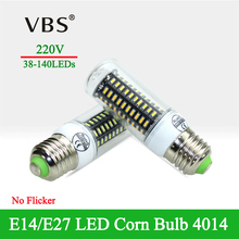 High Efficiency LED Corn Bulb E27 E14 SMD4014 NO Flicker Warm/White White LED Lights For Home(China)