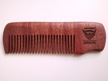 Handmade Red Comb Fine Tooth Comb Beard/Hair Comb For Men Beard Care Pocket Size Engrave Logo(China)