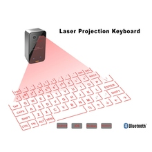 Projection Keyboard Full size English Black Laser Keyboard Wireless Bluetooth Virtual Projector for Android iOS Tablet teclado