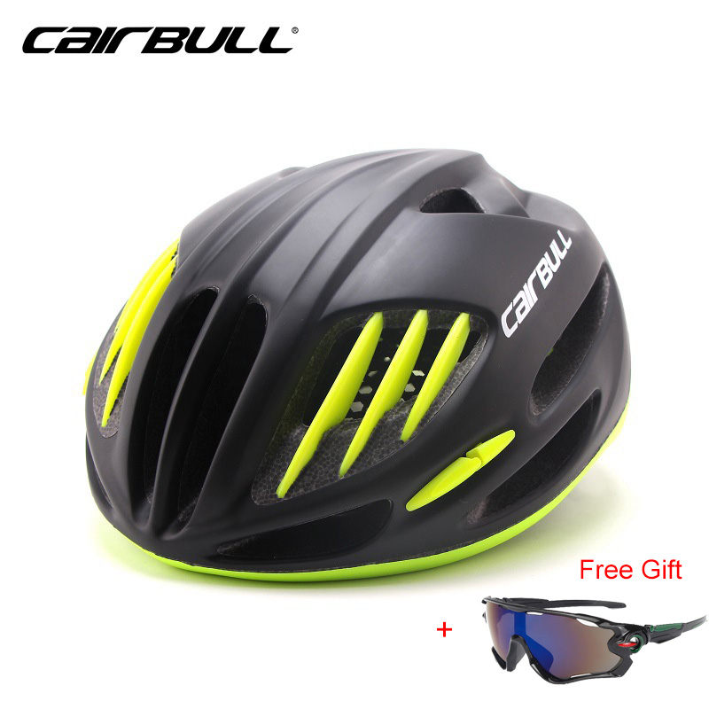 CAIRBULL Professional MTB Road Bike Bicycle Helmet 2017 New EPS Superlight Cycling Helmets with Sunglasses Capacete ciclismo<br>