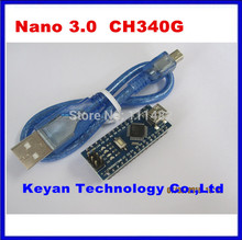 10sets Nano 3.0 controller compatible with arduino nano CH340 USB driver with USB Cable